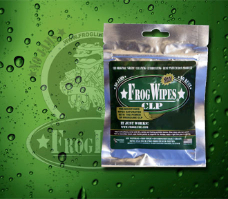 FrogLube CLP Wipes - 5 presoaked wipes per sealable package