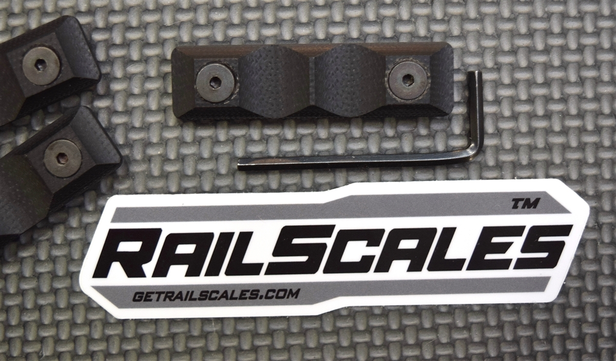 KEYMOD Railscales Short Grip Panels - Set of 2 - BLK