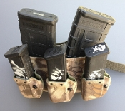 G-Code/HSP D3 Two AR-15 Rifle Mag Carrier with 3-Pack Pistol
