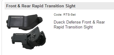 Dueck Defense Rapid Transition Sight Set - RTS SET