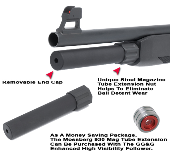 Mossberg 930 Magazine Tube Extension (2-Shot)