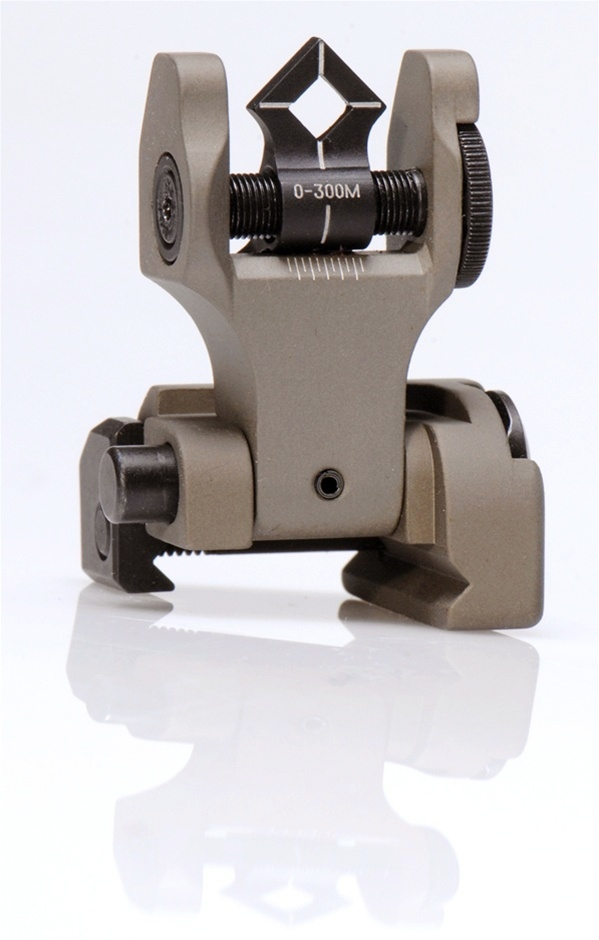 Troy BattleSight Rear Di-Optic Aperture (DOA) Folding - FDE