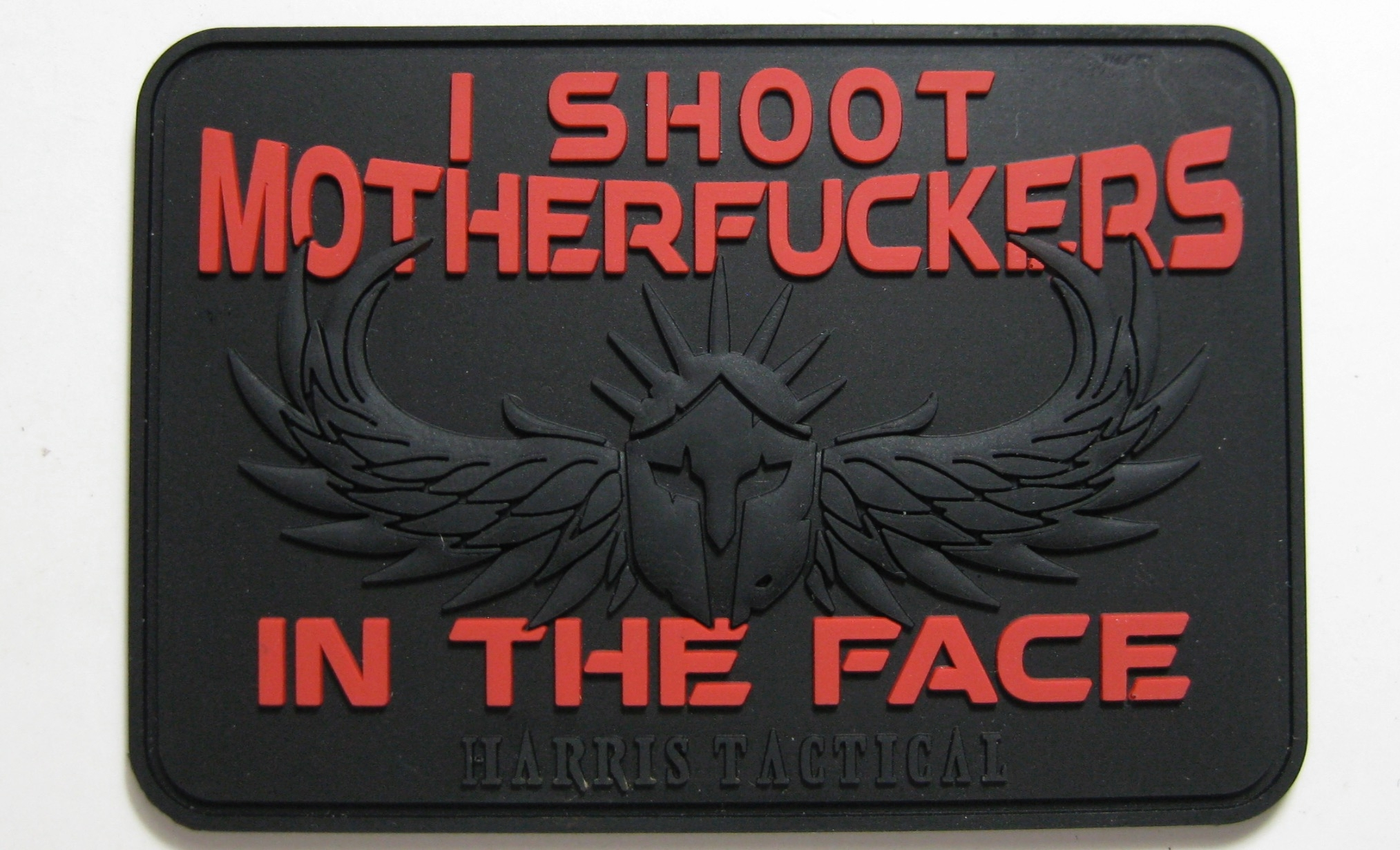 I Shoot MF'ers In The Face PVC Patch in Black and Red (Limited)